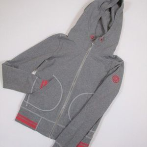 Lululemon 6 Gray Pink Full Zip Hoodie Thumbholes